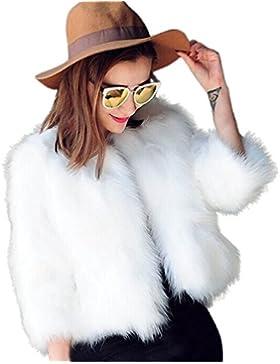 Chaquetas de Mujer,Longra 2017 Natural Conejo chaquetas corto piel de las mujeres abrigos de invierno con la manga...