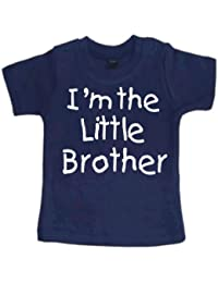 Navy t-shirt 'I'm the little brother'