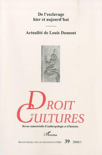 Droit et cultures, numéro 39
