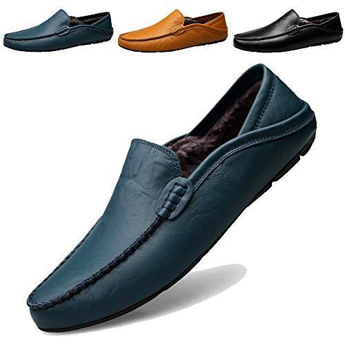 KAMIXIN Mocasines Hombres Zapatos Vestir Casuales