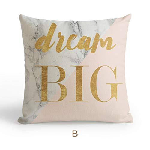 Loikhgv federa cuscino cuscino natalizio decorativo per la casa nordico cuscino per cuscino geometrico geometrico in marmo rosa dorato cuscino per biancheria gialla in ananas, 4