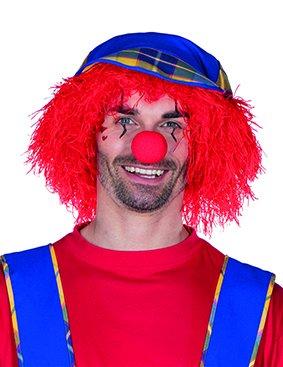 ke Struppi Rot - Lustige Struppelpeter Perücke für verschiedene Kostüme zu Karneval oder Mottoparty (Lustige Afro)