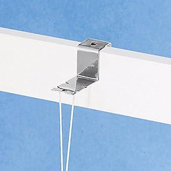 Dekohaken-Set weiß für Fensterrahmen 19-22 mm mit Abstandhalter 2 Stück
