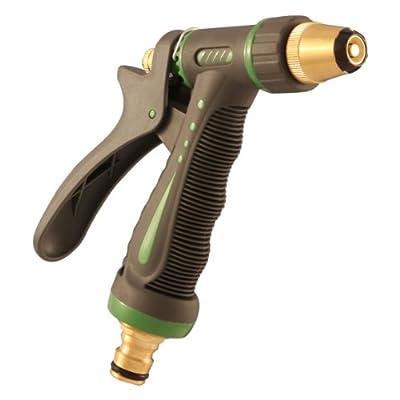 Sanifri 470010097 Garten-Spritzpistole aus Leichtmetall, Kunststoffbeschichtet, massive Ausführung mit Messing-Schnellkupplung, stufenlos verstellbar von Sanifri