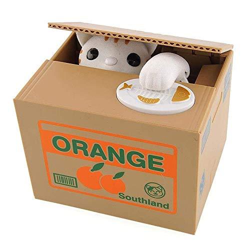 PowerKing Robar Monedas Caja de Panda - Hucha - Oso Panda - Hablar en inglés - Gran Regalo para Cualquier niño (Cat Box)