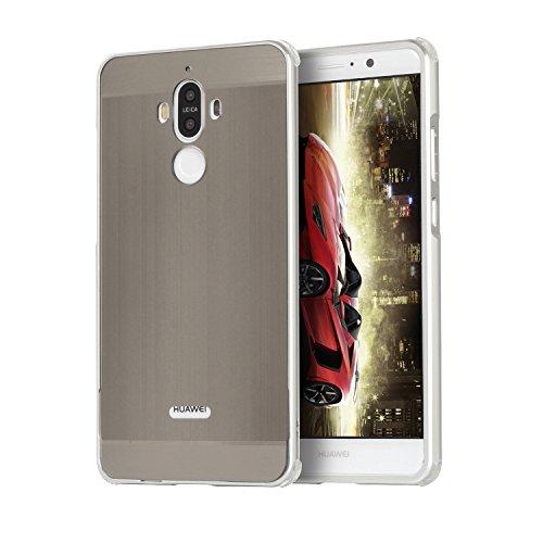 Metall Schutzhülle Alu Hard-Case Schutz Handytasche Ultra-Slim Handy-Hülle für Huawei Mate10, Silber