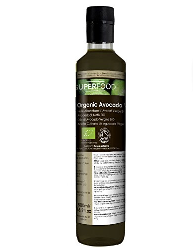 olio alimentare di avocado vergine biologico - naturale al 100% - 500ml