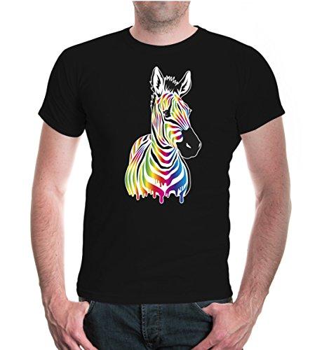 buXsbaum® T-Shirt Afrikanisches-Wildpferd-farbig Black-z-direct
