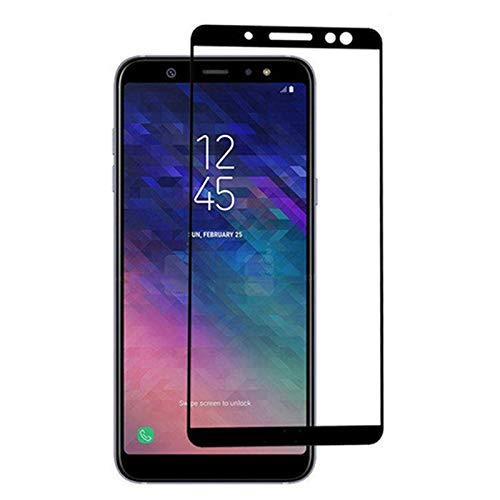 Displayschutzfolie für Samsung Galaxy A6 2018 - 2er-Pack Full Cover Ultra Dünn Displayschutzfolie Panzerglas für Galaxy A6