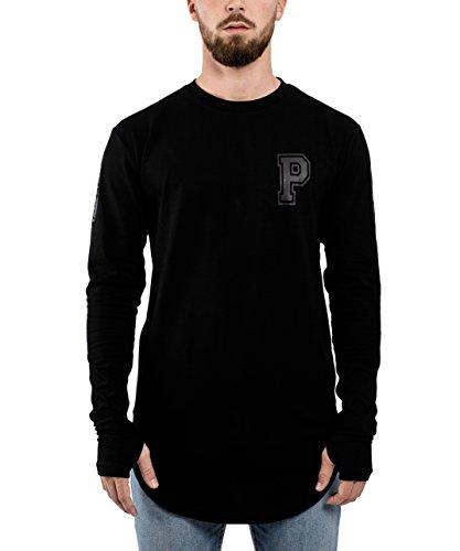 All-star Langarm-t-shirt (Phoenix Allstar Oversize Langarm T-Shirt Longshirt 09 Print Herren Tee Langes Stylisches Shirt Sweater Schwarz Allblack - M)