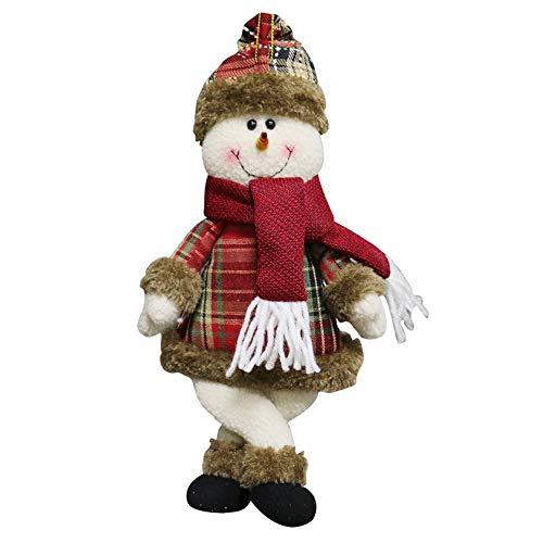 (❤JUSTSELL Weihnachten Ornament Kreativ Schneemann Spielzeug Gebogener Fuß Puppe Hang Party Dekoration Ornament Geschenk Haus Dekoration)