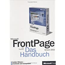 Microsoft FrontPage 2002, Das Handbuch, m. CD-ROM