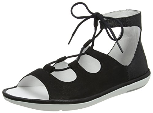 Black Sandalen Mura859fly London Damen FLY Schwarz w8pYnX