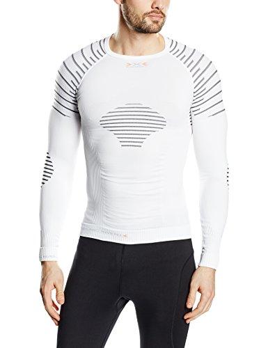 X-Bionic I020270 Maglie con maniche lunghe Invent, Uomo, Bianco (White/Black), L