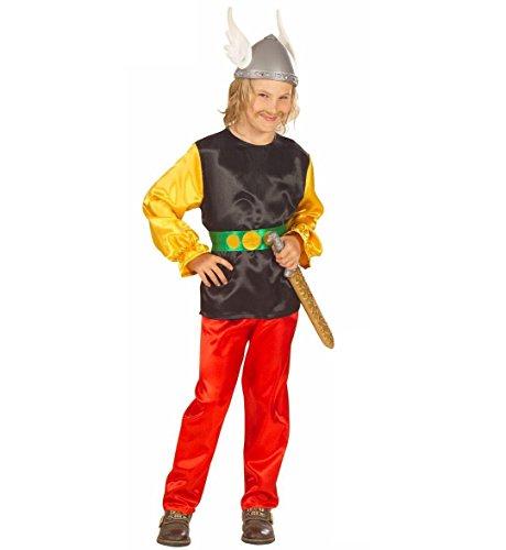 Kind Kostüm Asterix - Widmann-Gaulois bekannten Kostüm Krieger Kämpfers, in Größe 5/7Jahre