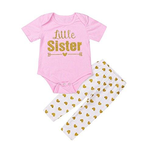 Bornbayb Pyjamas für Baby Big Sister Anzug und Kleine Schwester Kleidung 0-24 Monate Alter 2-7 2 stücke von Bornbayb