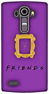 The Racoon Grip Peek Hole Purple hard plastic printed back case / cover for LG G4