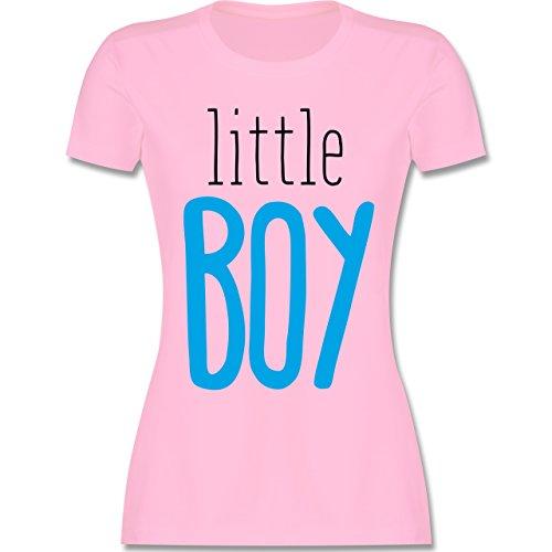 Schwangerschaft - Little Boy - tailliertes Premium T-Shirt mit Rundhalsausschnitt für Damen Rosa