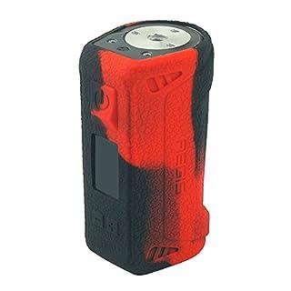 Schutzhülle Silikon Hülle Sleeve Case Skin Cover für GeekVape Aegis 100W TC Schwarz/Rot