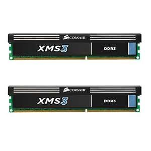 Corsair CMX8GX3M2A1600C9 XMS3 8GB (2x4GB) DDR3 1600 Mhz CL9 Performance Desktop Memory