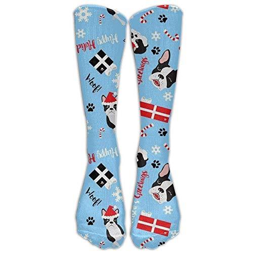 Gped Kniestrümpfe,Socken Boston Terrier Christmas Compression Socks For Men & Women,Graduated Athletic Socks Reduce Muscle Soreness,Best For Running,Sport,Travel,Nurses,Medical Length 50CM