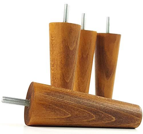 Möbelfüße aus Holz Ersatz Beine für Sofas, Stühle, Sofas–Set von 4–150mm Hoch–M8(8mm)–pkc2117d (Ashley Furniture Bücherregal)