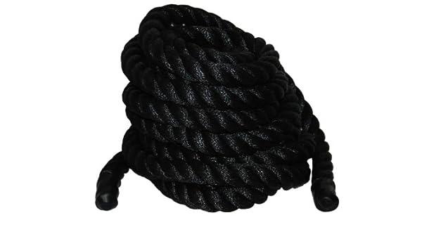 Evans Cordage Co 1076-50 2-Inch x 50-Feet Black Poly Training Rope T.W