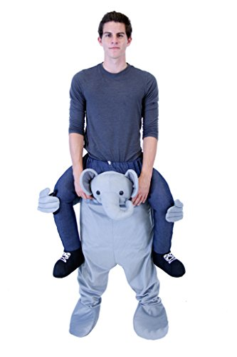 Adult Elephant Kostüm Grau - Piggyback Ride On ELEPHANT Youth Costume (Youth)