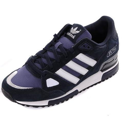 Adidas Originals ZX 750Turnschuhe–Marineblau/Weiß, Blau - blau - Größe: 42