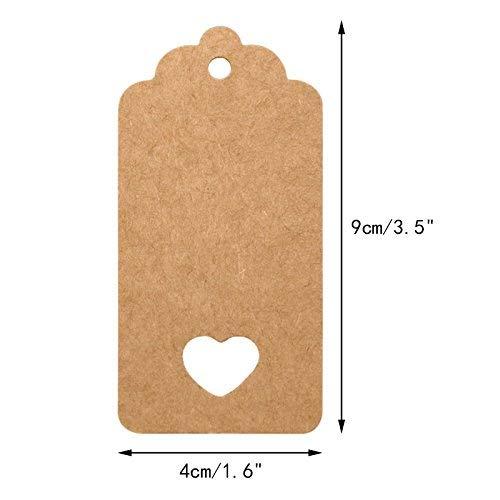 Geschenkanhänger aus Kraftpapier - 3