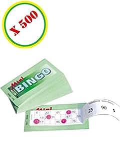 Mini bingo ( série de 500 tickets ) Le Geant De La Fete