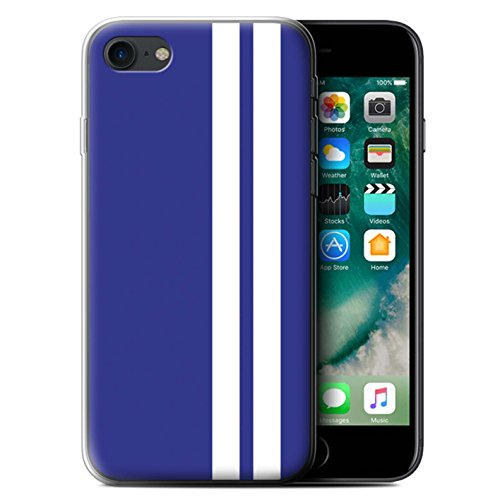 Stuff4 Gel TPU Hülle / Case für Apple iPhone 7 / Amerikanisch Muster / Rennwagen Streifen Kollektion Gordini Renault