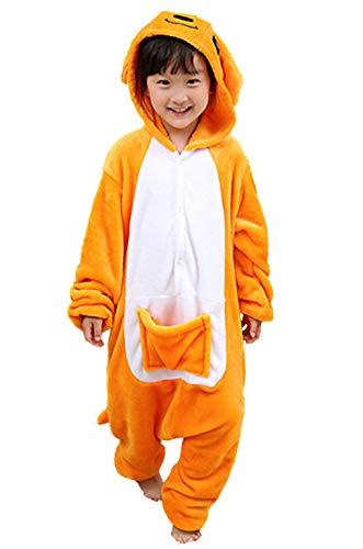 (Pyjamas Kigurumi Jumpsuit Onesie Mädchen Junge Kinder Tier Karton Halloween Kostüm Sleepsuit Overall Unisex Schlafanzug Winter, Känguru)