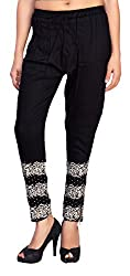 Comix Cotton Rayon Fabric Women Harem Pants With Zipper(AGSPL-3149-IXE-HP-10-BLACK-XL)