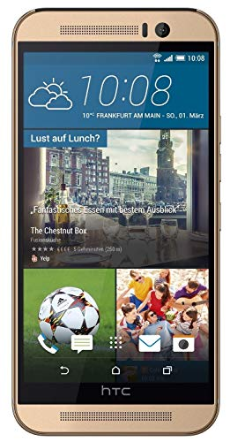 HTC One M9 Smartphone (5 Zoll (12,7 cm) Touch-Display, 32 GB Speicher, Android 5.0.2) gold (Generalüberholt)