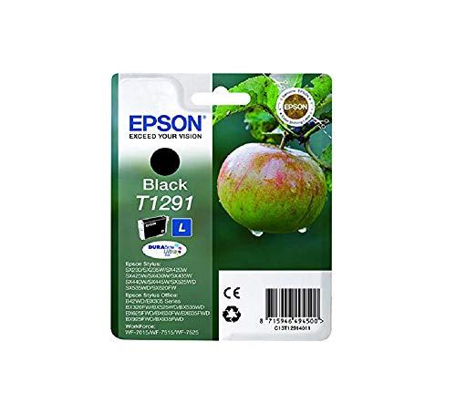 Epson Original T1291 Tinte, Apfel, wisch- und wasserfeste (Singlepack) schwarz