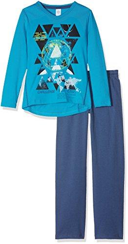 Sanetta Jungen Zweiteiliger Schlafanzug 243757, Blau (Pool 5689), 176 (Herstellergröße: 176)