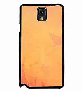 FABCASE Premium texture orange paint texture Printed Hard Plastic Back Case Cover for Samsung Galaxy Note 3