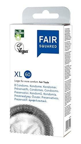 FAIR SQUARED XL Kondome, vegan, extragroß, 8 Stück