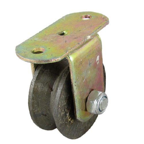 DealMux 3 Dia-Rad-Metall-V-Nut Starre Caster für Industrie Carts