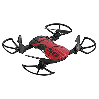 KinshopS 33056S Mini Foldable Drone With 2MP HD Camera FPV RC Helicopter Practical Quadcopter Toy Headless 2.4Ghz 6 Axis Gyroscope Wifi Remote Control Drone (Black&Red) from KinshopS