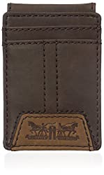 Levis Mens Matt Front Pocket Wallet, Brown, One Size
