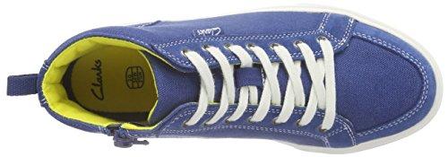 Clarks Club Pop Jnr Jungen Sneakers Blau (Blue)