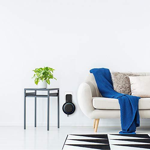 PROUD BIRD Wandhalterung Doppelpack für Dot (3. Gen.), Eine Platzsparende Lösung für Smart Home Lautsprecher, Dot Zubehör Halterung Ständer mit Kabelanordnung, Keine Unordentlichen Drähte