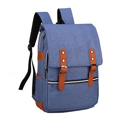 Männer Und Frauen Leinwand Student Tasche Reisetasche Rucksack Business Schulter Tasche Computer Tasche Einfach Wild Blue