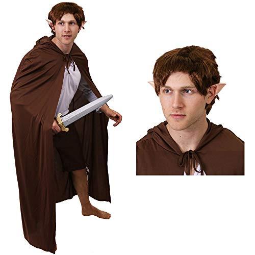 ILOVEFANCYDRESS MAGISCHE Elfen FEEN Pixie ZWERGEN KOSTÜM VERKLEIDUNG VARIATIN=Film UND FERNSEHN=Frauen MÄNNE ODER Paar=Fasching Theme=Mann/PERÜCKE+Ohren+BRAUNER - Hobbit Kostüm Männer
