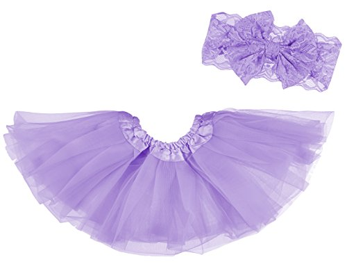 Dancina Baby Tüllrock Tutu Classic Set m. passendem Haarband Lavendel Classic 6-23 Monate -
