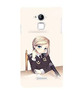 printtech Anime Cute Beautiful Girl Back Case Cover for Coolpad Note 3 Lite