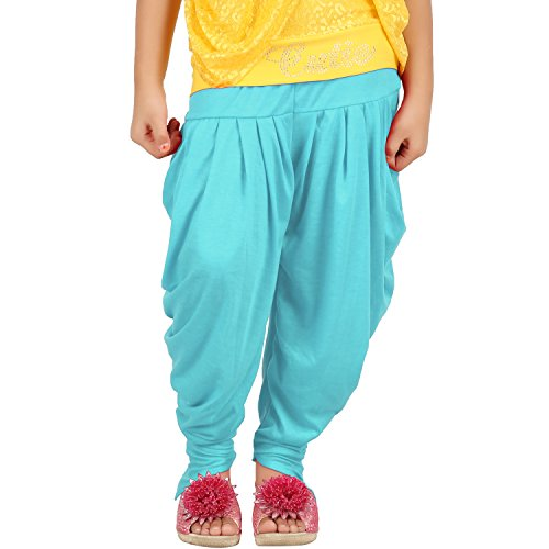 Goodtry Girls Butterfly Dhoti Pant-Turquoise Blue  available at amazon for Rs.249