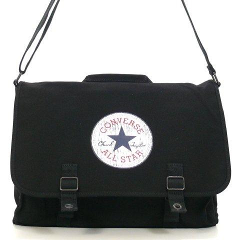 CONVERSE Canvas Shoulder Bag Bolsa Bolso De Bandolera Vintage Patch Negro Black